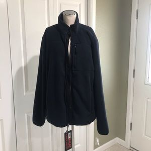 NEW Men's 32 Degrees Navy Fleece Zip Jacket Large